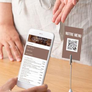 Menu QR Code pour Restaurants Bars et Glaciers