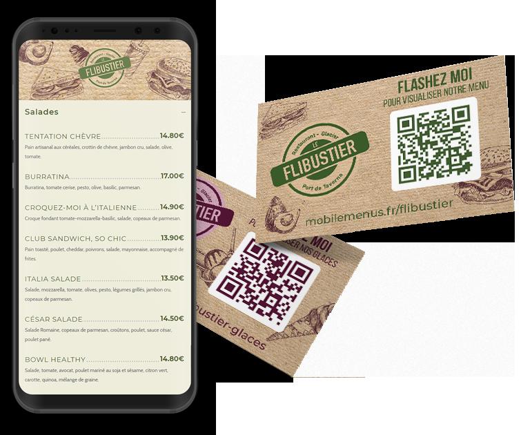 menu restaurant qr code