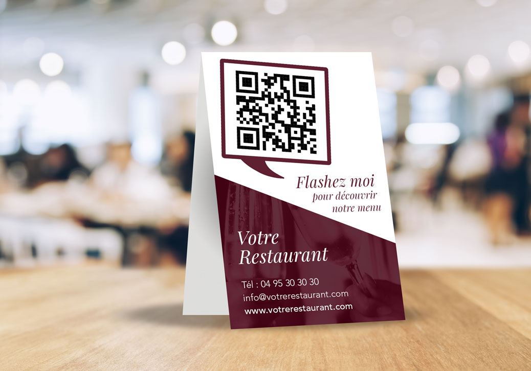 Double Carte restaurant avec QR Code à Flasher